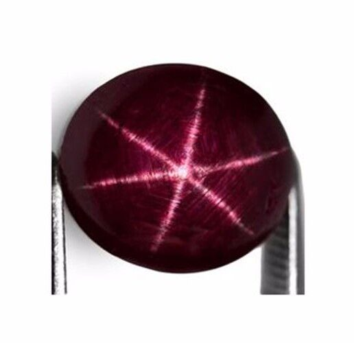 8.16CTS  SHARP LINE NATURAL UNHEATED 6 RAYS STAR RUBY LOOSE GEMSTONE