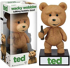 Ted 2 Talking Bobble Head Wacky Wobbler Toys Games Figurines Sound Gift Vinyl