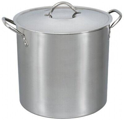 16-Quart Stock Pot Stainless Steel Metal Lid Cooking Kitchen Soup Stew Pasta New 16 Quart Stock Pot