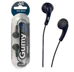 BLACK JVC GUMY GUMMY HA-F150 Earphones Headphone iPod iPhone iPad MP3 PLAYER