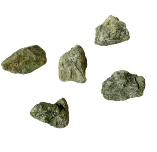 Geo Rough Diopside Green Rocks, 5 pcs approximately 1.5 in each