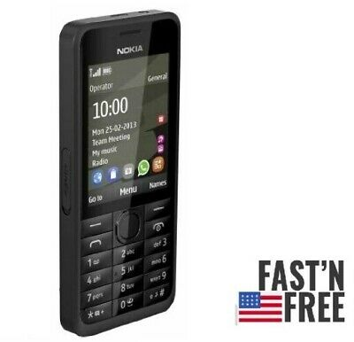 New Condition Nokia 301 Black  Cheap Basic Mobile Phone