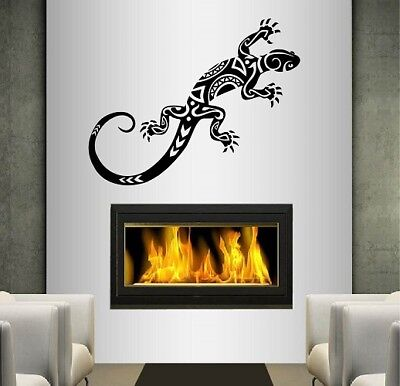 - Vinyl Decal Lizard Iguana Tribal Abstract Ornament Wall Sticker Mural Decor 1879