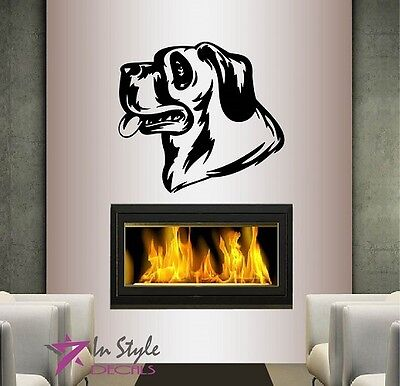 Vinyl Decal Dog Head Panting Pet Puppy Bedroom Nursery Pet Shop Wall Sticker 306