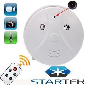 Camera Smoke Detector Detecteur de Fumee - * HD * DVR * Audio * Motion Trackeur *