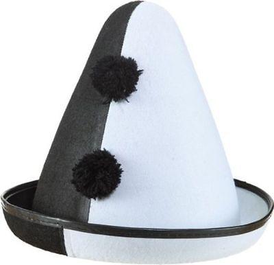 Pierrot Hut zum lustigen Clown Kostüm an Karneval - Lustigen Hut