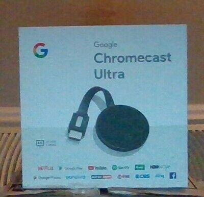 FREE SHIPPING Google Chromecast Ultra 4K Media Streamer - Black (GA3A00403A14)