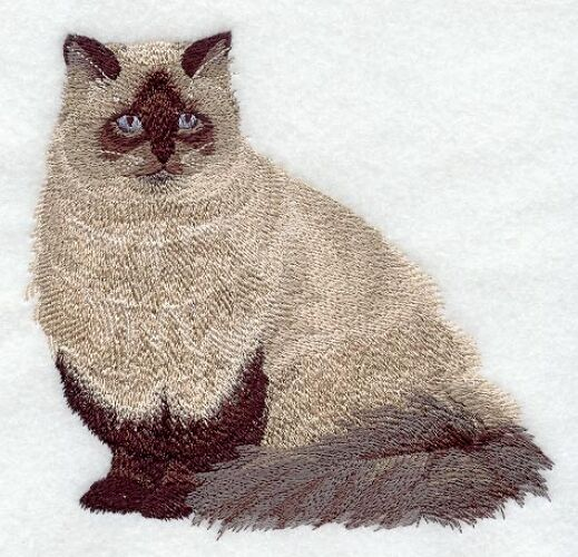 Embroidered Fleece Jacket - Himalayan Cat C7910 Sizes S - XXL