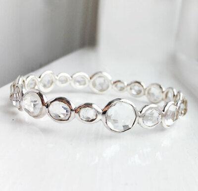 Stunning! $1195 IPPOLITA Rock Candy Clear Quartz Bangle Bracelet