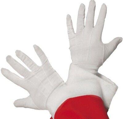 Weihnachten Herren Handschuhe Kostüm Weiß Santa Neu von (Weibliche Santa Kostüm)