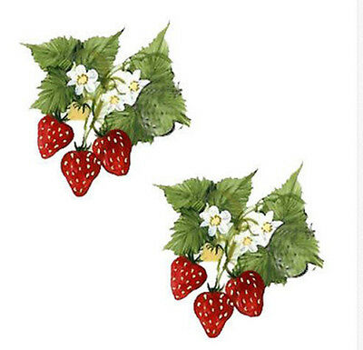 LuSciouS ReD STraWBerRrieS ShaBbY WaTerSLiDe DeCaLs *CounTrY ChiC