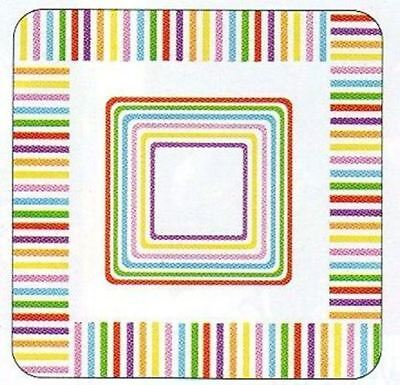 Beach Stripes Paper Plates 7 inch Pk of 8 - PPPP87184 - Beach Paper Plates