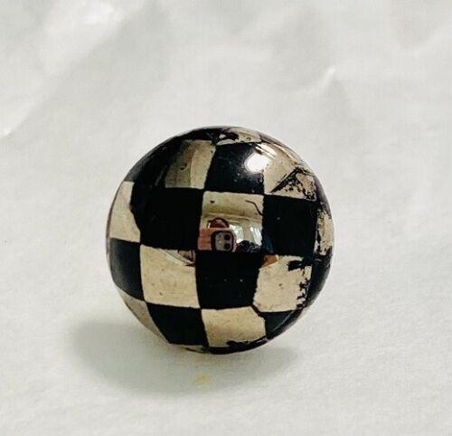Authentic Kameleon Gold & Black Checked Murano Glass Pop Rock KJPSBF174