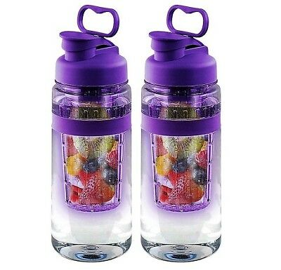 Infusion Water Bottle 32 Ounce Set Of 2 Gym Ice Cubes Dishwasher Safe Bpa Free