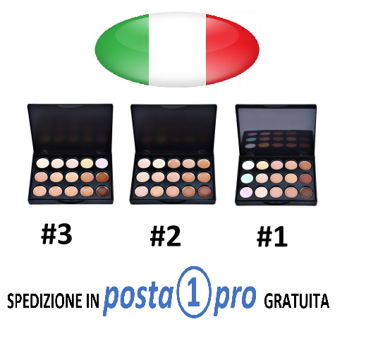 PALETTE CORRETTORI E CONTOURING 15 COLORI, MAKE UP