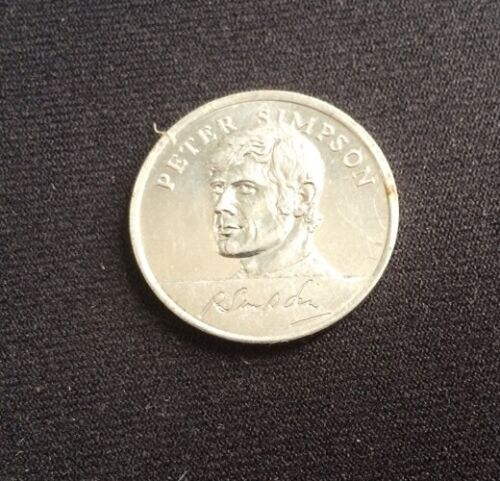 Peter Simpson Mexico 1970 England World Cup Squad Esso Soccer Football Coin VGC