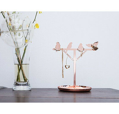 Kikkerland COPPER BIRD IS THE WORD Jewelry Stand earrings,rings,necklaces,etc