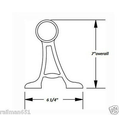 floor mount bar foot rail tubing kit