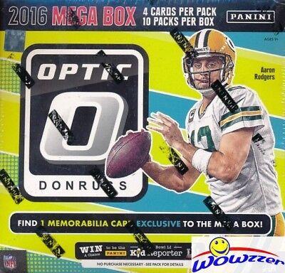 2016 Donruss Optic Football EXCLUSIVE Sealed MEGA Box-MEMORABILIA & 5 SPECIAL RC
