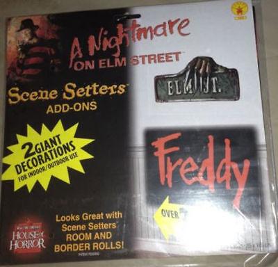 Nightmare on Elm Street Freddy Krueger Scene Setter Halloween Party decoration - Nightmare On Elm Street Halloween Decorations