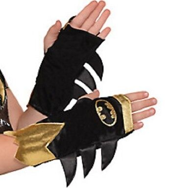Batman Shimmer Arm Warmers Child One Size 1 Pair - Kids Couple Costume