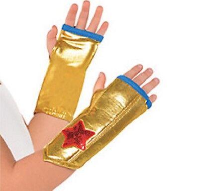 Wonder Woman Fingerless Gloves Arm Warmers Child One Size 1 Pair