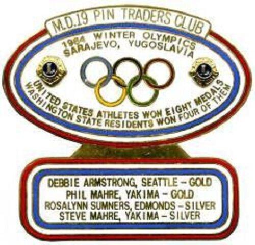 Lions Club Pins - Pin Trader MD 19 1984 Winter Olympics Sarajevo Yugoslovia