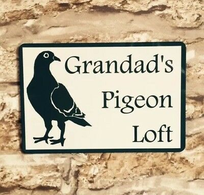 METAL SIGN GRANDADS PIGEON LOFT NOVELTY SIGN GIFT BIRTHDAY SHED DAD