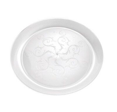Clear Plastic Disposable Dinner Plates (240 10