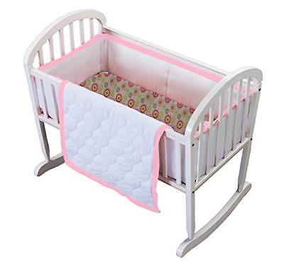 3 Piece Cradle (Baby Doll Medallion 3 Piece Cradle Bedding Set, Hot Pink)