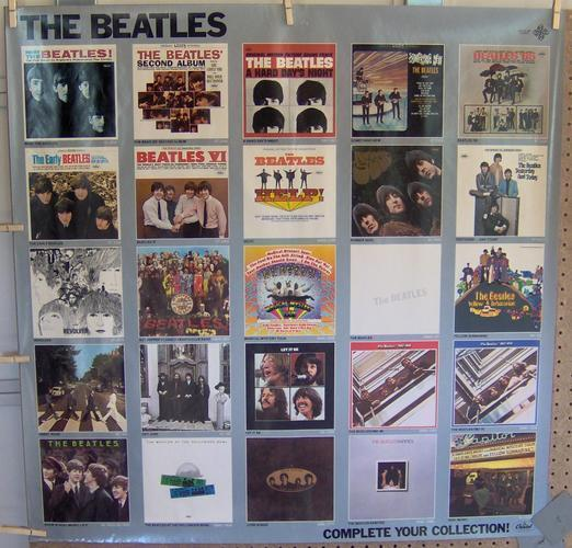 """The Beatles ~ HUGE, 36""""x36"""" VERY RARE PROMO POSTER 1982"""