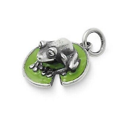 James Avery Enamel Frog on Lily Pad Charm Enamel Frog Charm