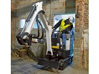 Micro mini digger hire plant hire & Groundworks