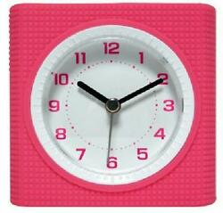 Equity by La Crosse Technology Pink Analog Alarm Clock Quiet Sweep Second Hand
