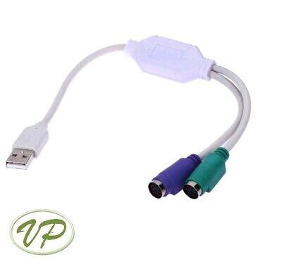 Adaptador de Ratón y Teclado a USB. Convertidor PS/2 Hembra a USB...