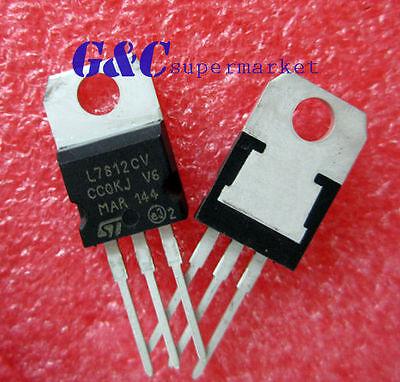 10pcs Ic L7812cv To-220 Voltage Regulator 12v New Good Quality T27