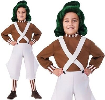 Childs Oompa Loompa Fancy Dress Costume Childrens Book Day Outfit by Rubies ()