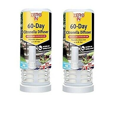 2 x Zero In 60-Day Insect & Best Fly Killer Insect Repellent Covers 40 Cu