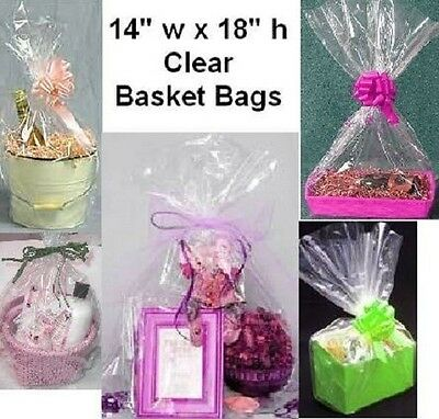 100 Crisp Clear Flat Cello Bags 14 x 18-Basket Bags