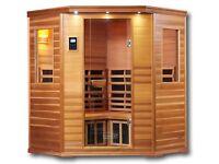 Sauna Corner Carbon Fibre Infra Red Free Standing Unit