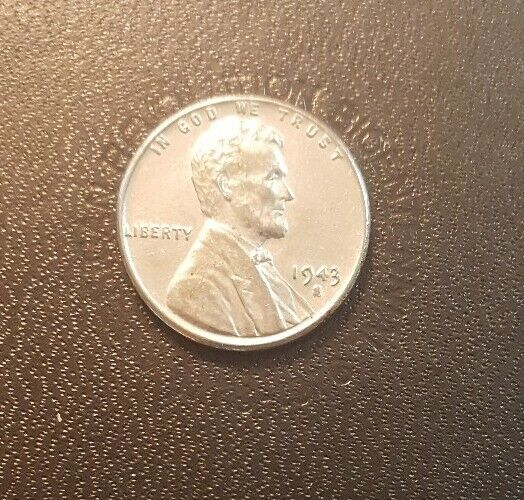 Uncirculated Looking Steel Lincoln Wheat Penny.  FREE SHIPPING!!