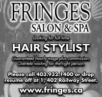 Looking for a full time experienced hair stylist