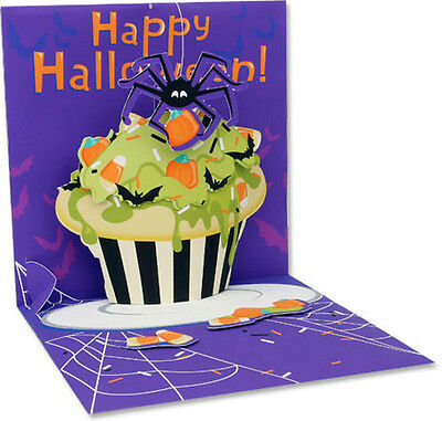 Spider Cupcake Pop-Up Halloween Card - Greeting Card by Up With Paper