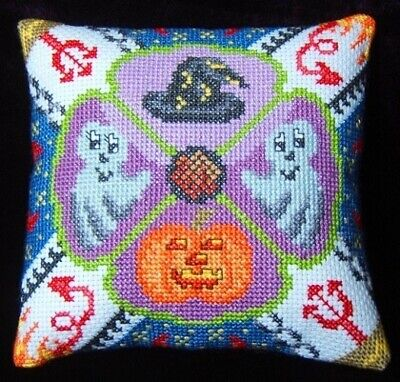 Halloween Party Mini Cushion Cross Stitch Kit, Sheena Rogers Designs