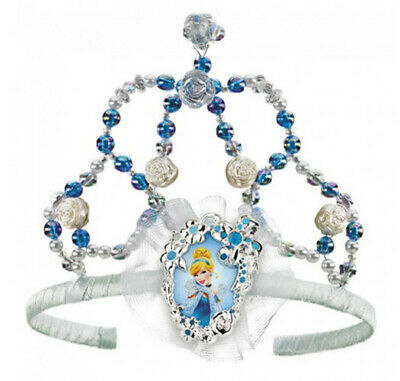 PRINCESS CINDERELLA Birthday Party supplies jewel BEADED TIARA with CAMEO Disney