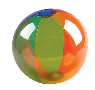 "RAINBOW BEACH BALL 16"" Transparent Pool Party Beachball #ST48 Free Shipping"