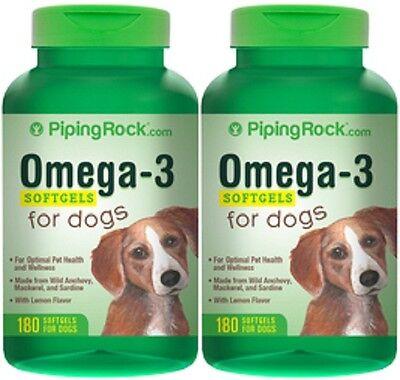 OMEGA-3 DOGS PET FATTY ACIDS EPA DHA HEART SKIN COAT SUPPLEMENT 360 SOFTGELS
