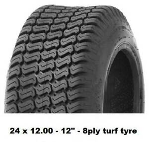 """24 X 12.00 - 12"""" TURF TYRES 8PLY - RIDE ON MOWERS/MINILOADERS/KANGA Midvale Mundaring Area Preview"""