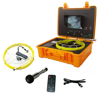 Trojan C65-dvr Inspection Snake Plumbing Camera W 7 Lcd Dvr And 65 Push Rod
