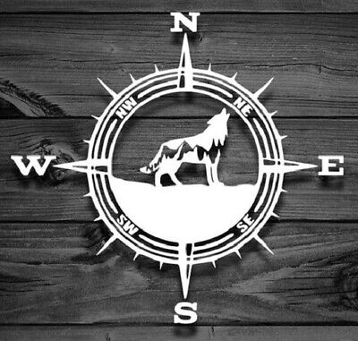 COMPASS WOLF MOUNTAIN Vinyl Decal -Sticker for Jeep Car Truck Bumper Wall Window Decal Stickers For Cars